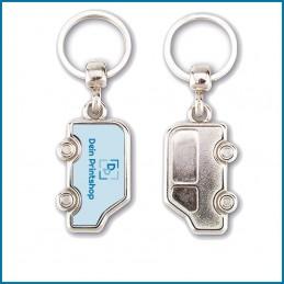 Schlüsselanhänger aus Metall - Auto-Form - Personalisiert