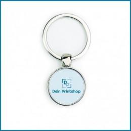 Runder Schlüsselanhänger aus Metall - Ø 25 mm - Personalisiert
