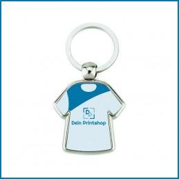 Schlüsselanhänger aus Metall - T-Shirt-Form - Personalisiert