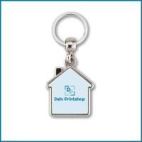 MY-D: Schlüsselanhänger aus Metall - Haus-Form